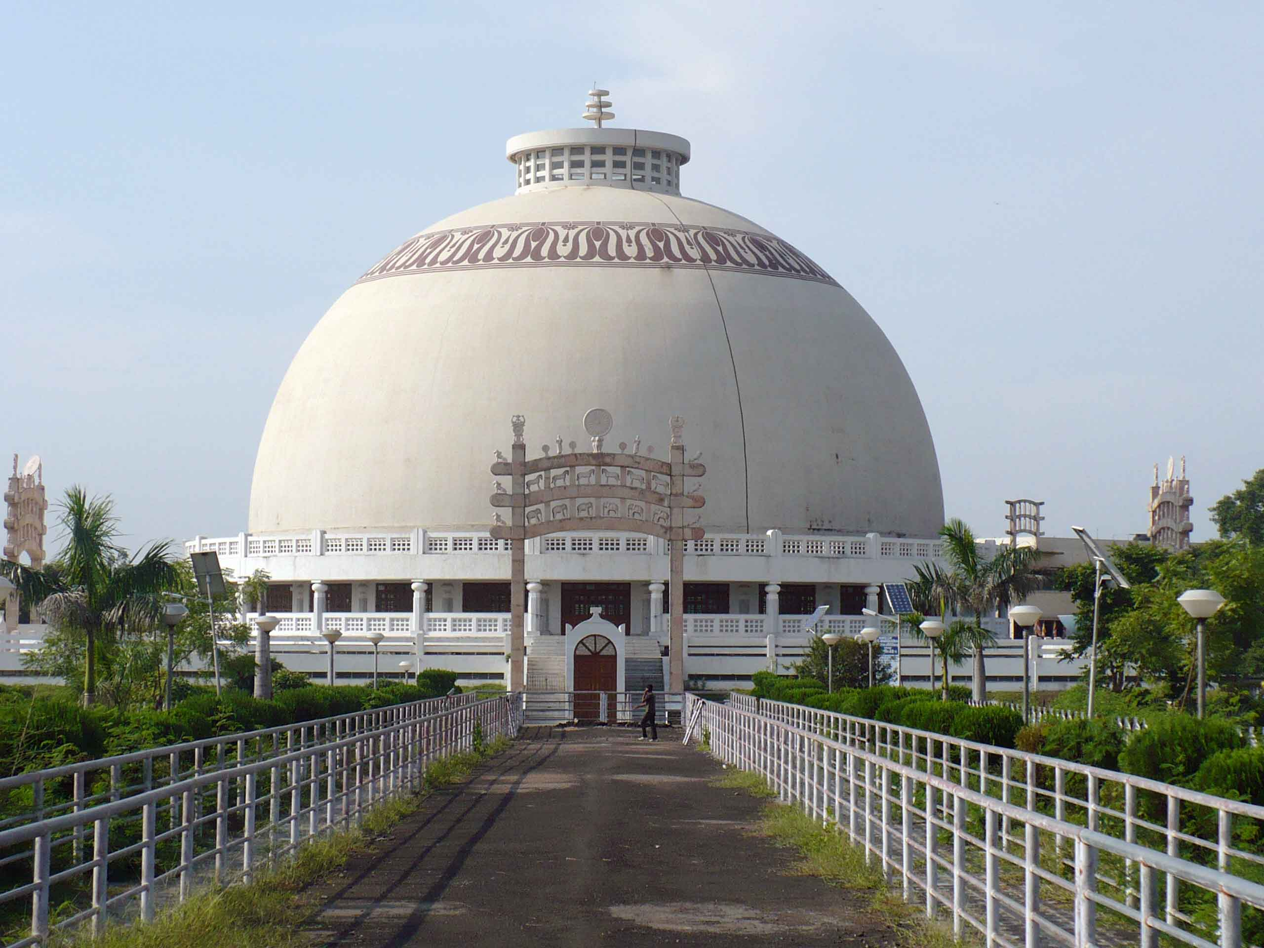 Picture of the sacred monument Deekhshabhoomi from outside