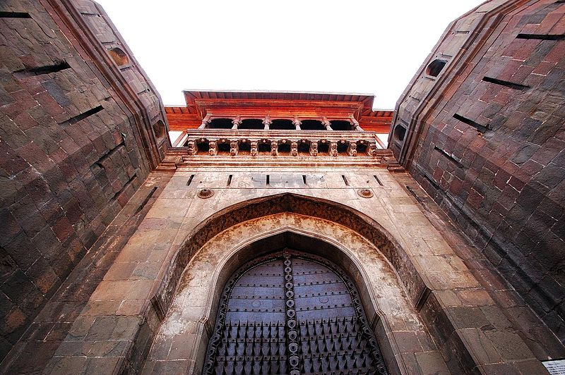 Grand entrance of Shaniwarwada Fort in Pune, India